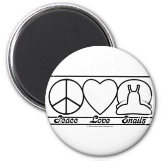 Peace Love and Snails Magnet