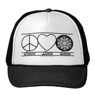 Peace Love and Snow Cap