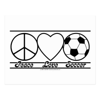Peace Love and Soccer Postcard