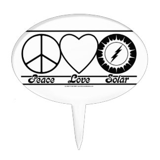 Peace Love and Solar Cake Toppers