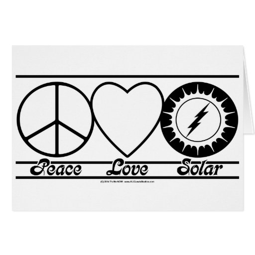 Peace Love and Solar Greeting Cards