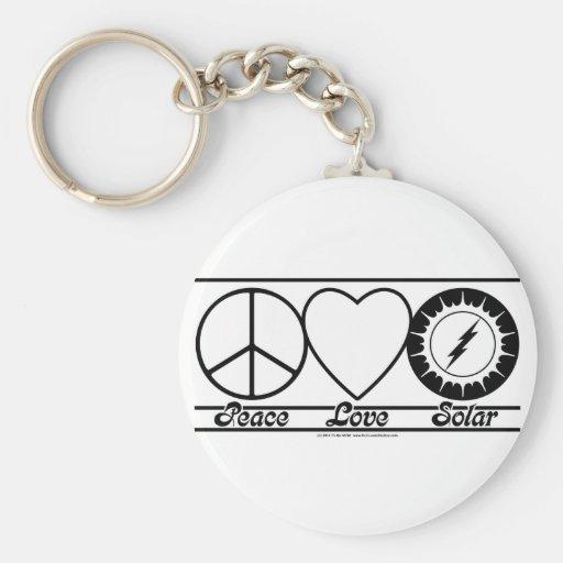 Peace Love and Solar Keychain