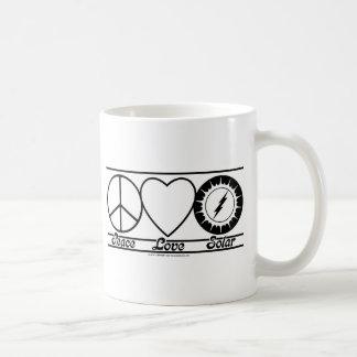 Peace Love and Solar Coffee Mug
