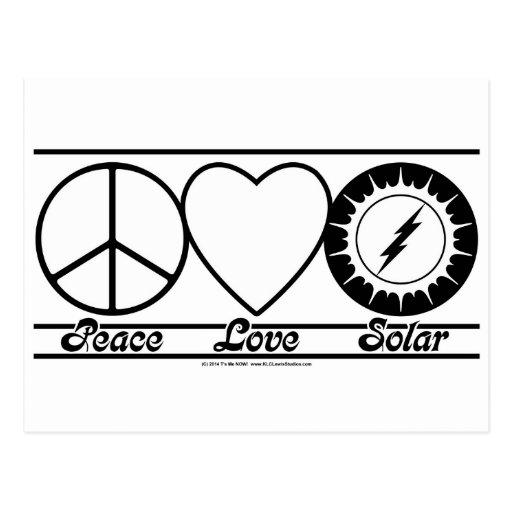 Peace Love and Solar Postcard