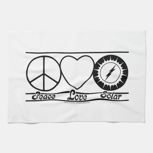 Peace Love and Solar Hand Towels
