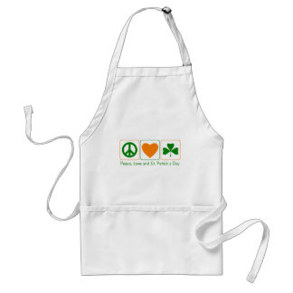 Peace, Love and St Patty's Day Standard Apron