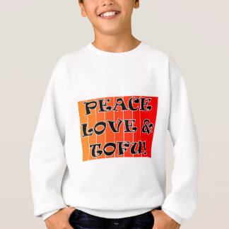 PEACE LOVE AND TOFU BLENDED ORANGE TO RED SWEATSHIRT