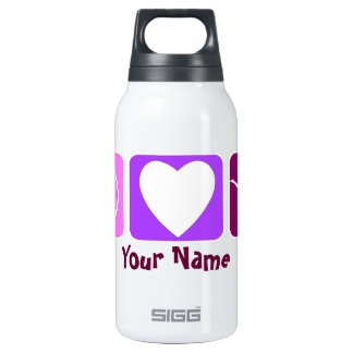 Peace Love and Tumble 16 oz Insulated Water Bottle