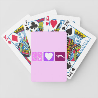 Peace Love and Tumble Bicycle Playing Cards