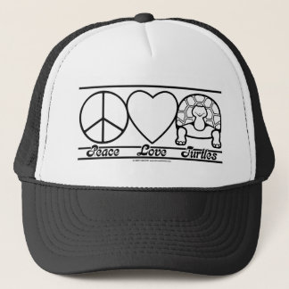 Peace Love and Turtles Trucker Hat