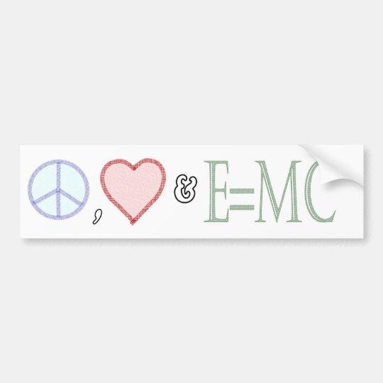 Peace, Love and Understanding Bumper Sticker