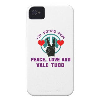 Peace Love And Vale Tudo. iPhone 4 Case-Mate Cases