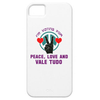 Peace Love And Vale Tudo. Barely There iPhone 5 Case