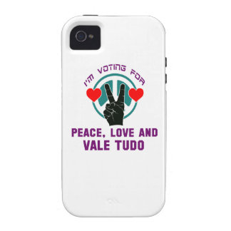 Peace Love And Vale Tudo. iPhone 4/4S Covers