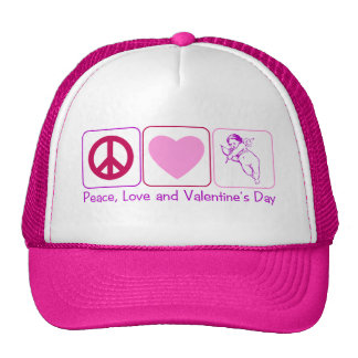 Peace Love and Valentines Day Hats
