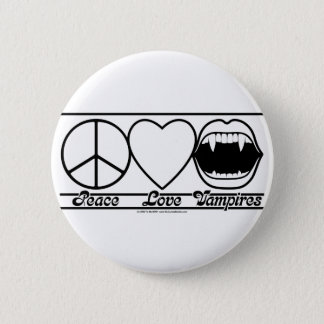 Peace Love and Vampires 6 Cm Round Badge