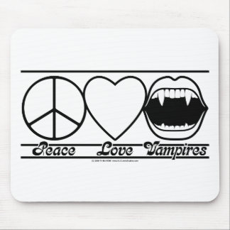 Peace Love and Vampires Mousepad