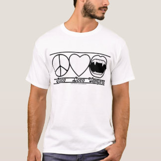 Peace Love and Vampires T-Shirt