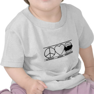 Peace Love and Vampires T-shirts