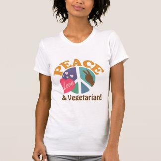 Peace Love and Vegetarian T-Shirt