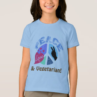 Peace Love and Vegetarian T-Shirt