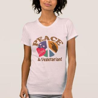 Peace Love and Vegetarian Tee Shirt
