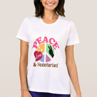 Peace Love and Vegetarian Tshirts