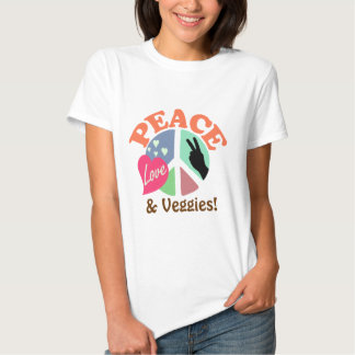 Peace Love and Veggies Tshirt