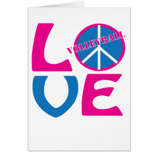Peace, Love, and Volleyball Gifts and Apparel Greeting Card
