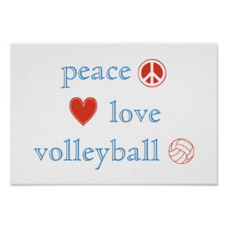 Peace Love and Volleyball Poster