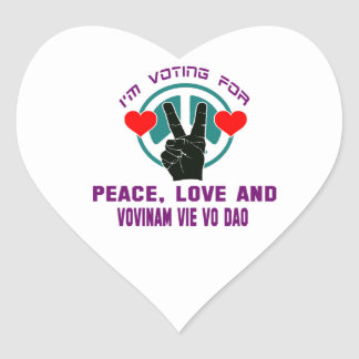 Peace Love And Vovinam vie vo dao. Heart Sticker