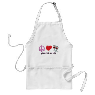 Peace, Love, and Wine Standard Apron