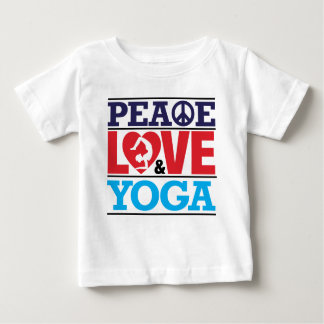Peace, Love and Yoga Baby T-Shirt