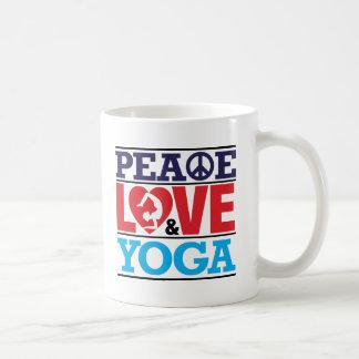 Peace, Love and Yoga Mug