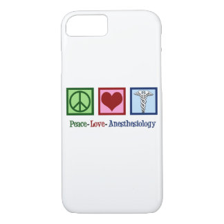 Peace Love Anesthesiology iPhone 8/7 Case