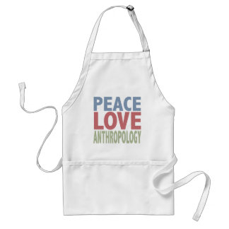 Peace Love Anthropology Standard Apron