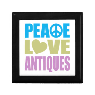 Peace Love Antiques Small Square Gift Box