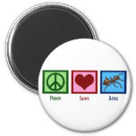 Peace Love Ants 6 Cm Round Magnet