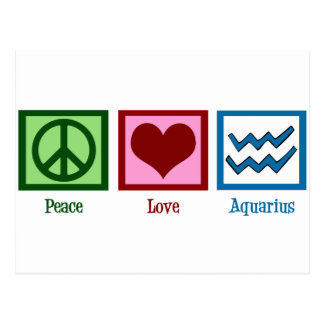 Peace Love Aquarius Postcard