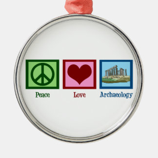 Peace Love Archaeology Christmas Ornament