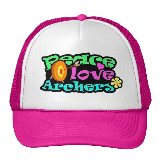 Peace, Love, Archery Cap