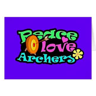 Peace, Love, Archery Card