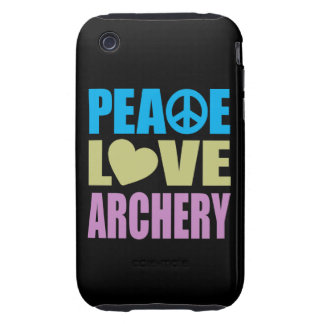 Peace Love Archery iPhone 3 Tough Case