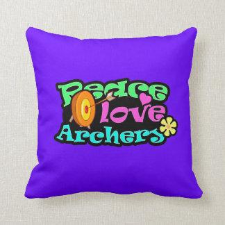 Peace, Love, Archery Cushion