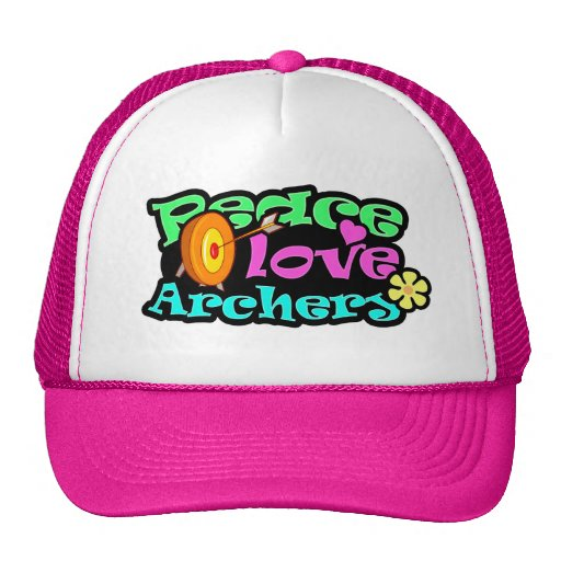Peace, Love, Archery Mesh Hat