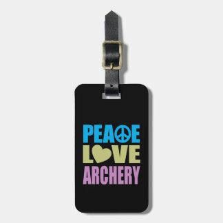 Peace Love Archery Luggage Tag