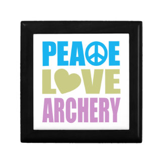 Peace Love Archery Small Square Gift Box