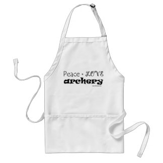 Peace Love Archery Standard Apron