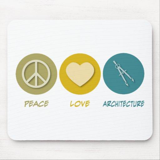 Peace Love Architecture Mouse Mats
