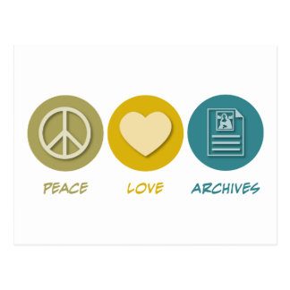 Peace Love Archives Postcard